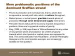 more problematic positions of the dominant sraffian strand