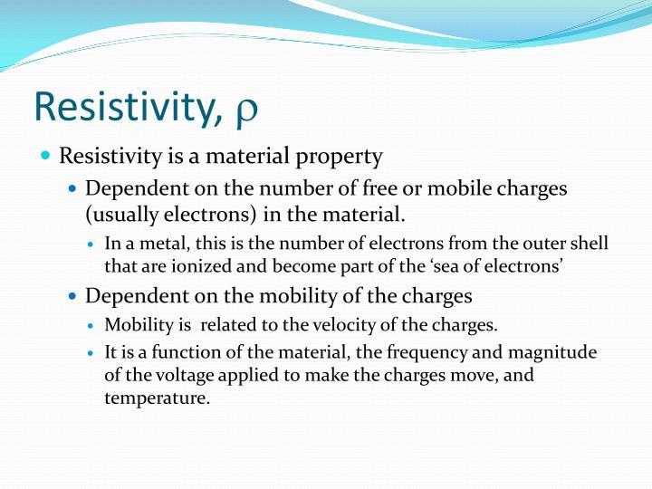 Resistivity r
