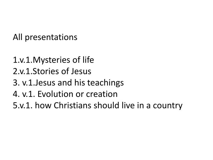 All presentations