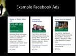 example facebook ads