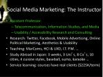 social media marketing the instructor1