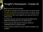 tonight s homework create all