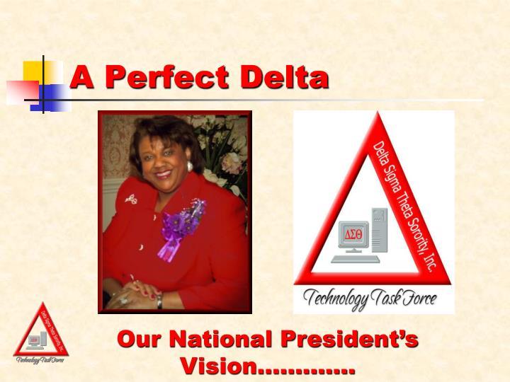 A perfect delta
