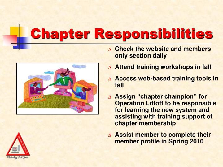 Chapter Responsibilities