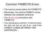 common fanboys errors