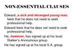 non essential clauses