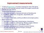 improvement measurements
