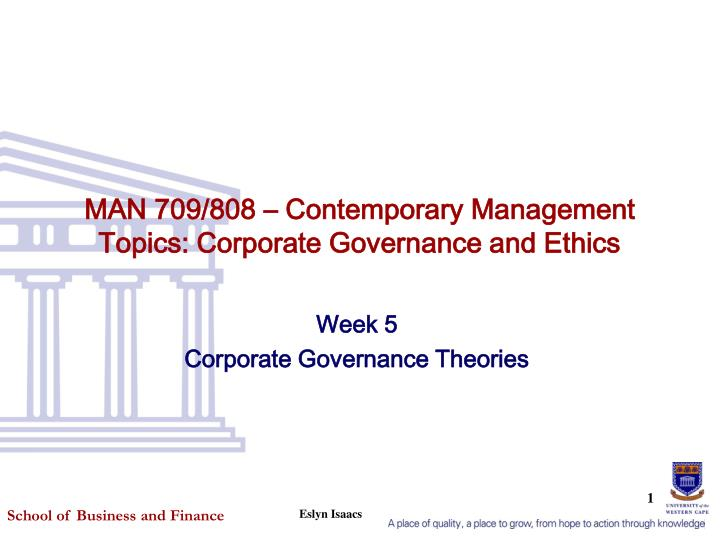 man 709 808 contemporary management topics corporate governance and ethics