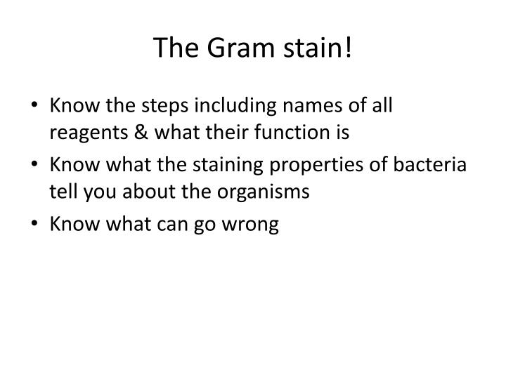 The Gram stain!
