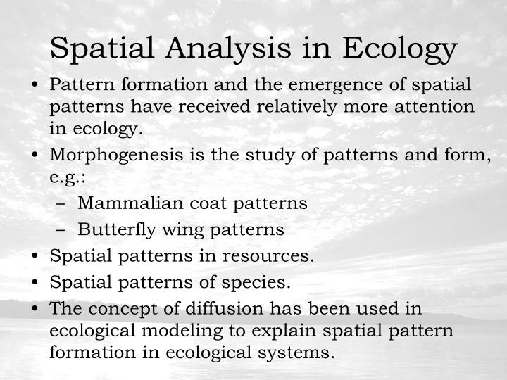 Spatial Analysis in Ecology
