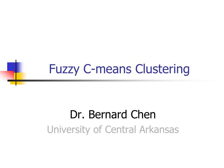 fuzzy c means clustering n.