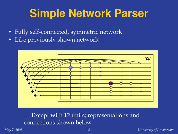 Simple network parser