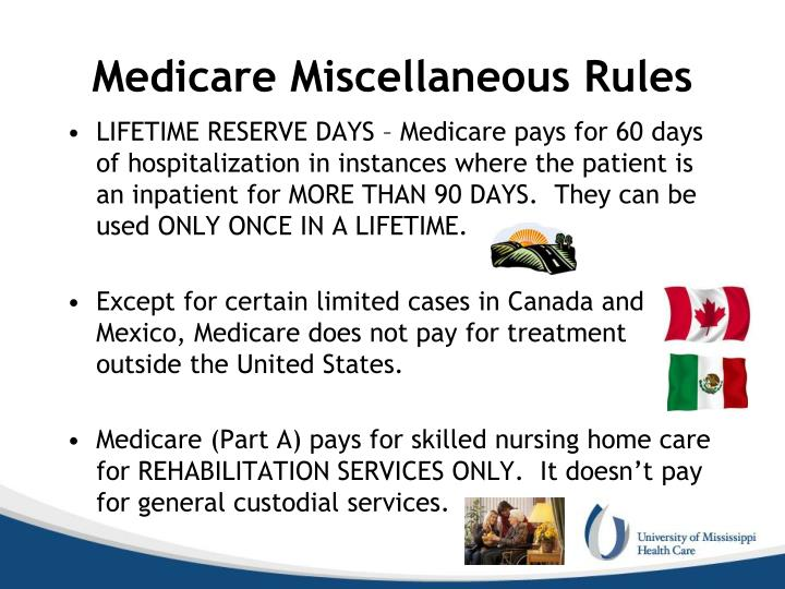 Medicare Miscellaneous Rules