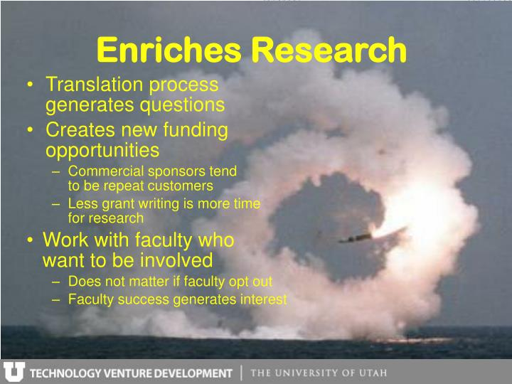 Enriches Research