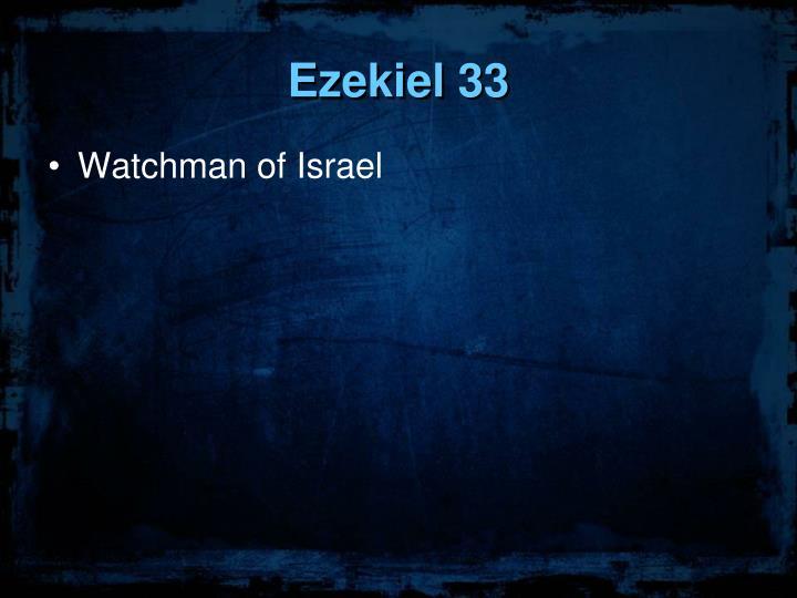 Ezekiel 33