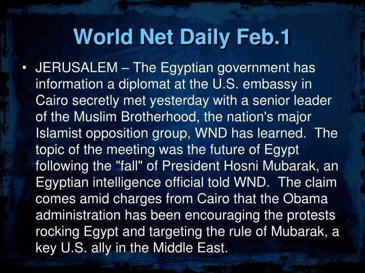 World Net Daily Feb.1