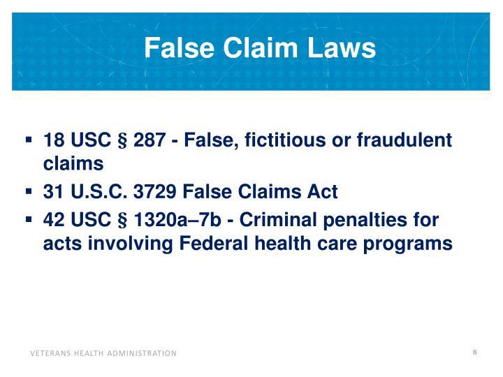 False Claim Laws