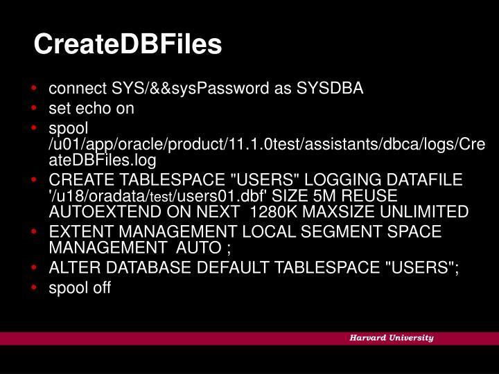 CreateDBFiles
