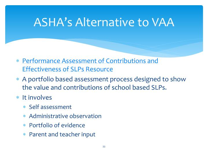 ASHA's Alternative to VAA