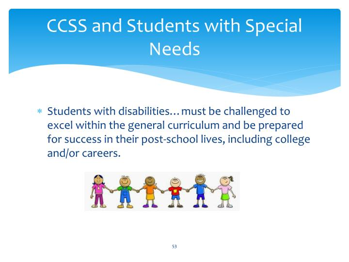 CCSS and Students with Special Needs