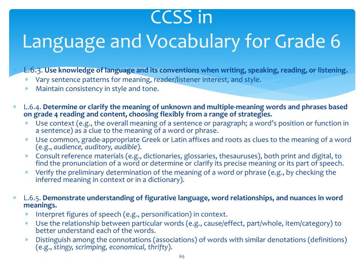 CCSS in
