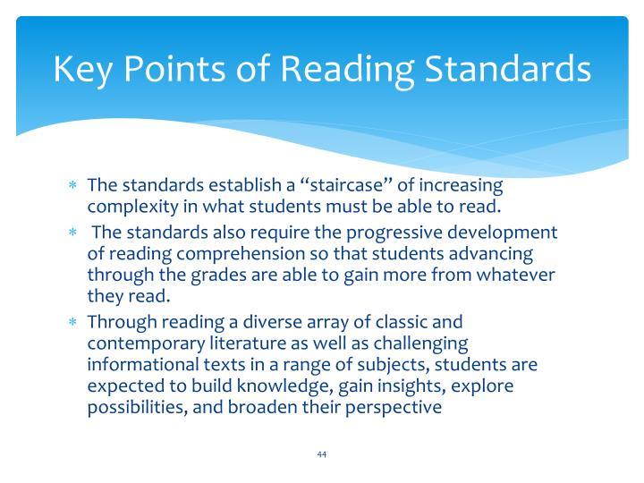 Key Points of Reading Standards