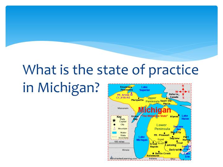 What is the state of practice in Michigan?