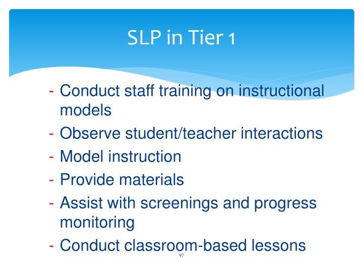 SLP in Tier 1