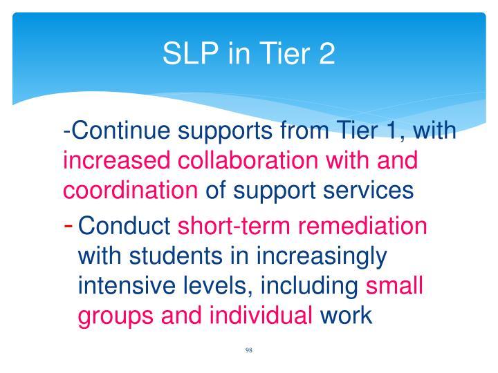 SLP in Tier 2
