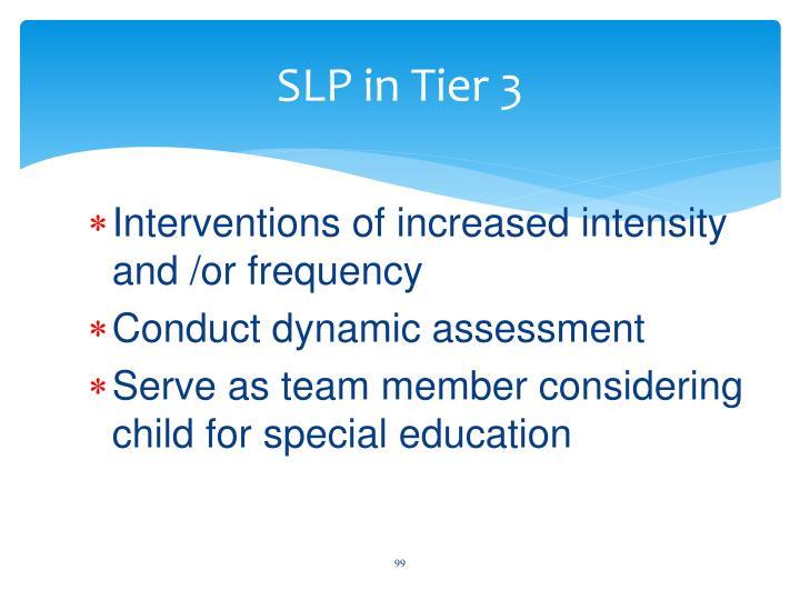 SLP in Tier 3