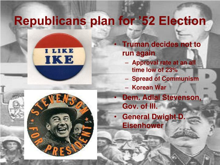 Republicans plan for 52 election