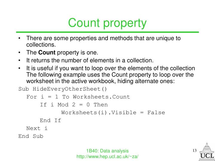 Count property
