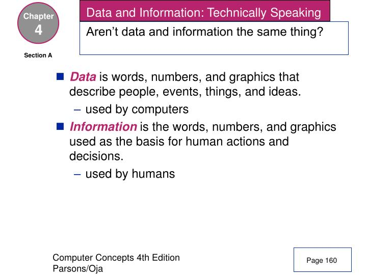 Data and Information: Technically Speaking