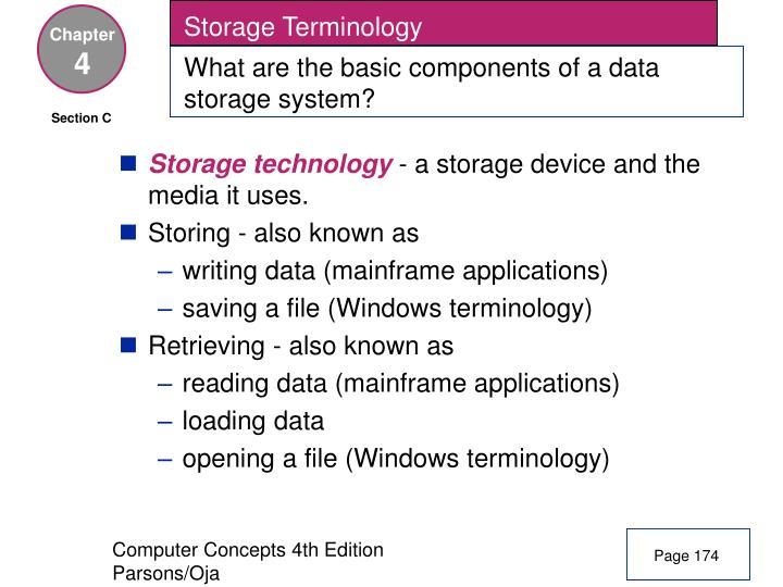 Storage Terminology