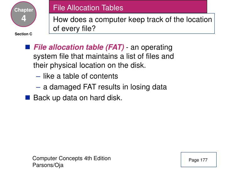 File Allocation Tables