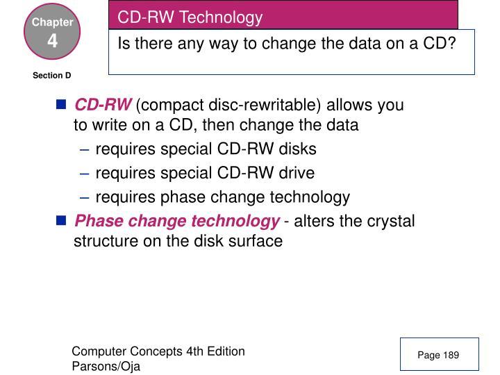 CD-RW Technology