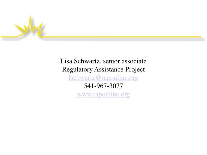 Lisa Schwartz, senior associate