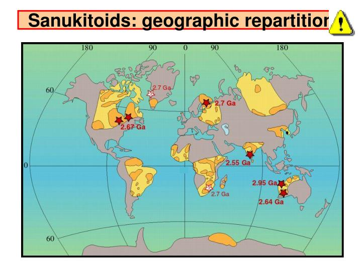 Sanukitoids: geographic repartition