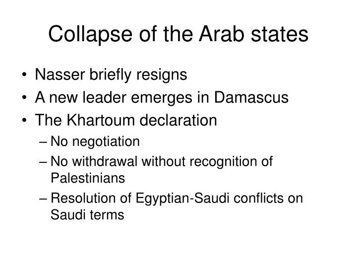 Collapse of the Arab states
