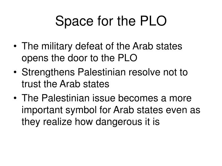 Space for the PLO