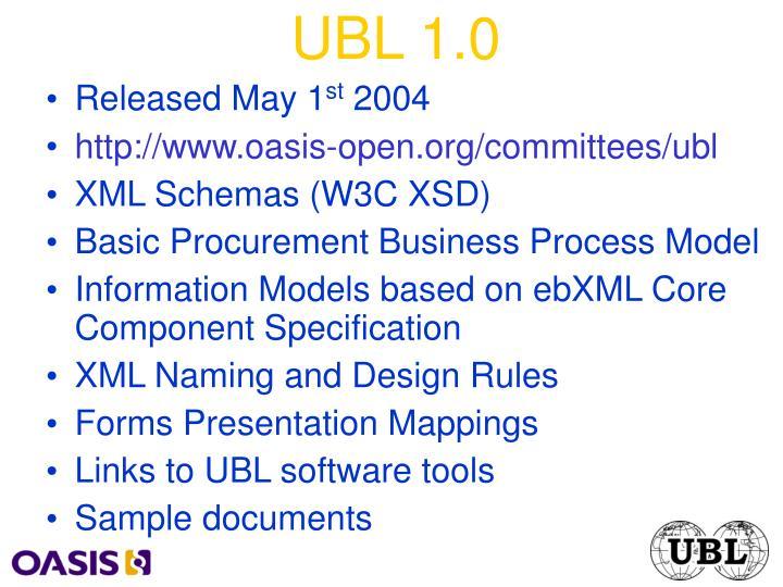 UBL 1.0