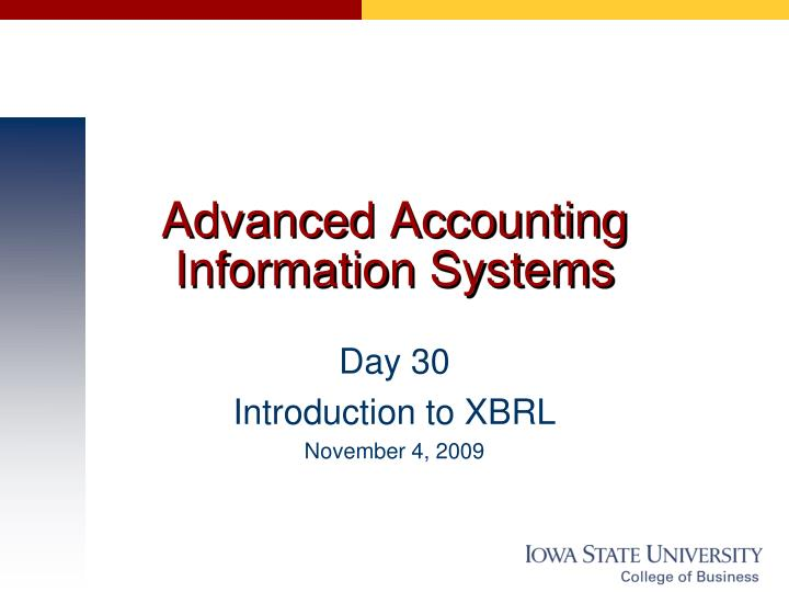 advanced accounting information systems n.