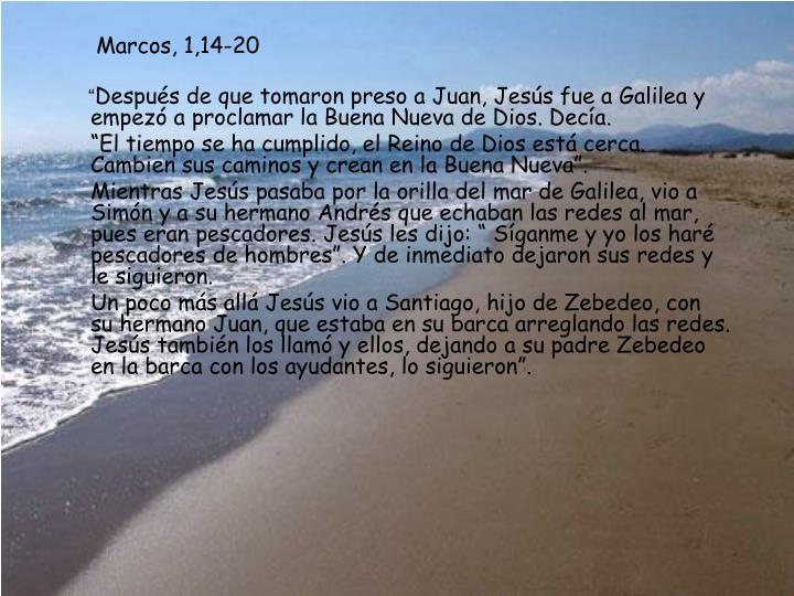 Marcos, 1,14-20