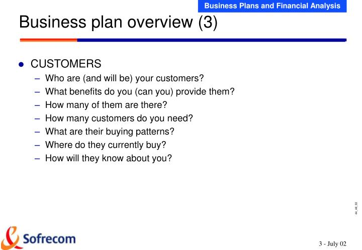 Business plan overview (3)