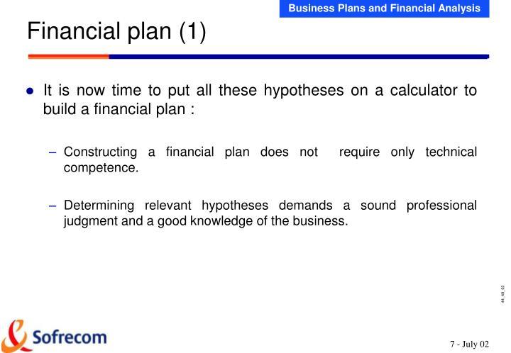 Financial plan (1)