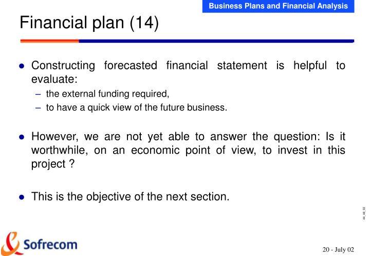 Financial plan (14)