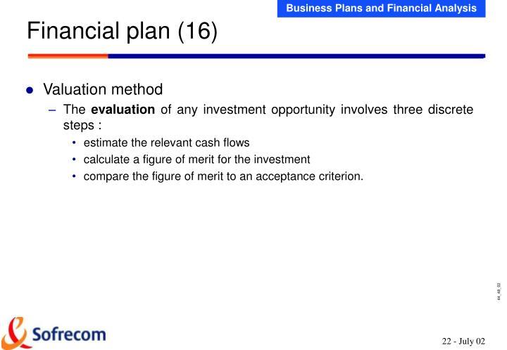 Financial plan (16)