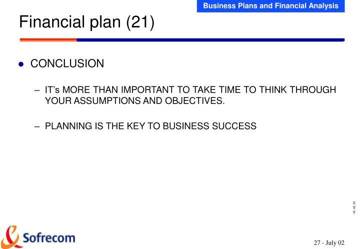 Financial plan (21)