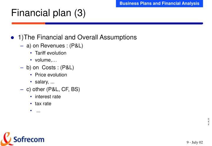 Financial plan (3)