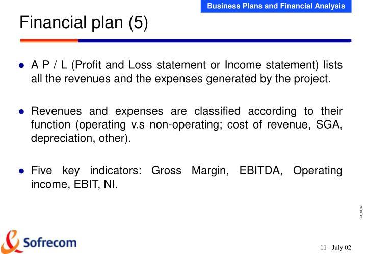 Financial plan (5)